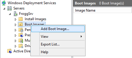 Adding a boot image